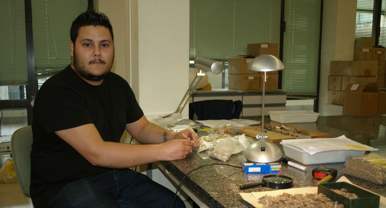 Rodrigo Portero en el laboratorio